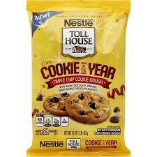 toll house cookie dough triple chip
