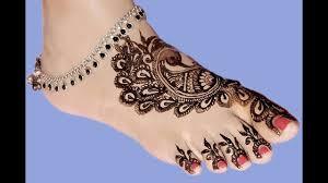 mehndi design image foot