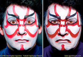the painted faces of anese kabuki