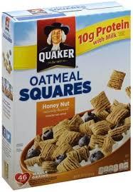 quaker oatmeal squares honey nut
