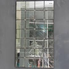 antique mirror glass candlesticks