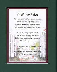 Son A Mother's Day Gift Poem Birthday ...