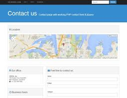 template with working php form and jquery