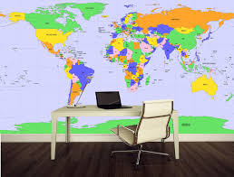 World Map Mural Decal Globe Wall Decal Murals Primedecals