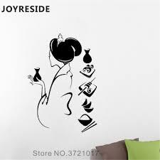 Joyreside Geisha Wall Decal Geisha Japanese Woman Wall Sticker Beauty Vinyl Decor Home Livingroom Art Decor Interior Designa1179 Wall Stickers Aliexpress
