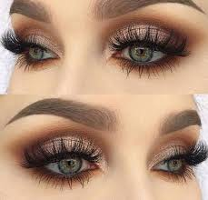 smokey eyes in brown makeup ideas