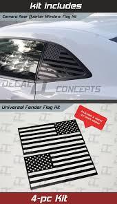 Camaro Rear Quarter Window Fender American Flag Decal Kit 2010 2015 Decal Concepts
