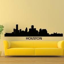 Shop Houston Skyline City Silhouette Vinyl Wall Art Decal Sticker On Sale Overstock 10425664