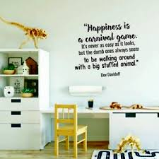 Happiness Is A Carnival Game Home Room Wall Sticker Vinyl Art Decal Decor Ebay