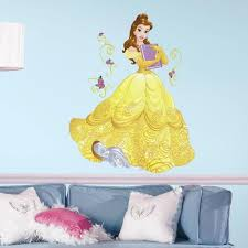 Roommates 2 5 In X 27 In Disney Sparkling Belle 13 Piece Peel And Stick Giant Wall Decal Rmk3206gm The Home Depot