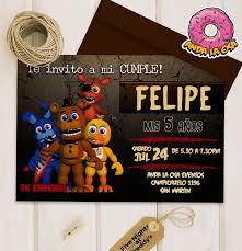 Tarjetas Cumpleanos Five Nights At Freddy S X10uni 50 00 En