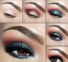 make up teal smokey eye 2800478