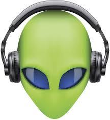 Amazon Com Ew Designs Creepy Green 3d Alien Head With Blue Eyes And Headphones Vinyl Decal Bumper Sticker 4 Tall Automotive