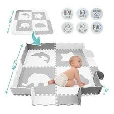 Tcbunny Baby Play Mat With Fence Large 5 X 5 Feet