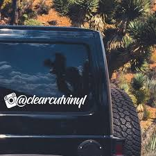 3x Custom Instagram Account Name Decals Car Stickers Etsy
