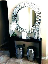 round brushed nickel wall mirror wall