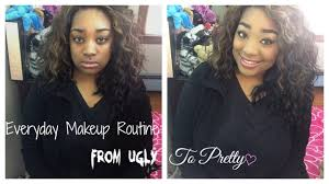 ugly black before and after makeup