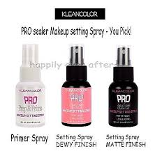 kleancolor setting spray primer