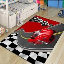 Hot Discount Aa9d Else Red Car Racing Road Flag Boys 3d Pattern Print Non Slip Microfiber Children Kids Room Decorative Area Rug Kids Game Mat Cicig Co