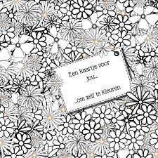 Kleur Kaart Bloemen Kleurplaat Kaarten Kaartje2go