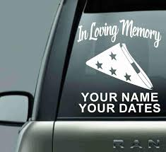 In Loving Memory Personalized Vinyl Car Decal Sticker Barbells And Handcuffs