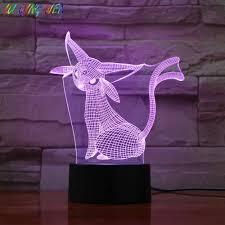 Pokemon Go Espeon Figure LED Night Lamp for Children Color ...