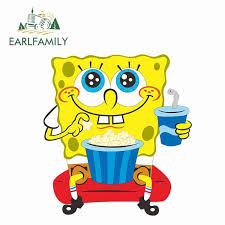 Earlfamily 13cm X 12cm Spongebob Car Stickers And Decals Vinyl Car Wrap For Motorcycle Jdm Car Whole Body Auto 3d Anime Decal Car Stickers Aliexpress