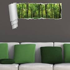 Shop Brewster Cr 44203 Green Forest Funny Panoramic Wall Decal Overstock 14530575