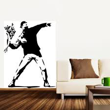 Banksy Wall Stickers Vinyl Decal Wall Decor Mural Wallpaper Wall Art Home Decoration Decoration Murale Home Decorvinyl Decal Aliexpress