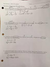 word problems worksheet pre algebra