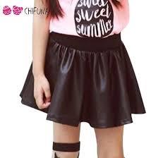 skirt autumn good quality children pu