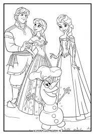 Elsa Anna Kleurplaat Uitprinten Op Kleurplaat Frozen