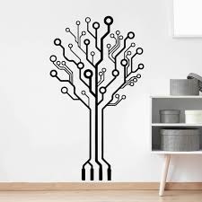 Circuit Tree Geek Computer Science Vinyl Wall Decals Art Sticker Removable Decor Ebay