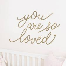 Harriet Bee Crosstown You Are So Loved Quote Wall Decal Wayfair
