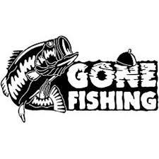 16cm 9cm Gone Fishing Bass Fish Car Boat Truck Vinyl Decal Sticker Car Bargain Bait Box