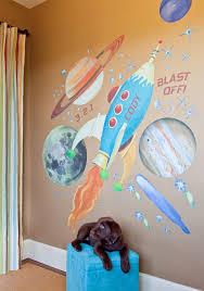 Retro Rocket Space Celestial Peel Place Oopsy Daisy