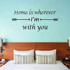 Vwaq Home Is Wherever I M With You Vinyl Wall Decal Love Quotes Wall D