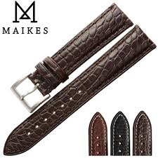 maikes luxury real alligator watch band