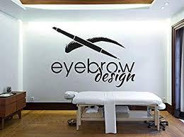 Amazon Com Dferh Wall Sticker Beauty Salon Design Eyebrow Eyebrow Wall Art Applique Removable Wall Decoration Mural Eyelash Makeup Wall Decal Girl Z866 58 42cm Kitchen Dining