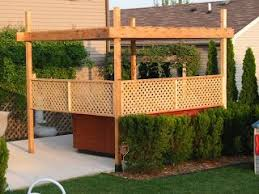 The Broke Homeowners Home Improvement Projects Hot Tub Pergola Hot Tub Pergola Hot Tub Backyard Hot Tub Outdoor