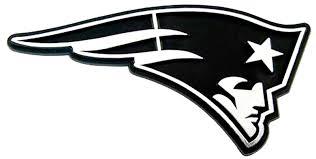New England Patriots Raised Silver Chrome Color Auto Emblem Decal Football Ebay