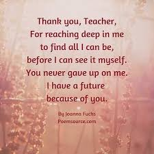 teacher poems of appreciation