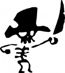 Pirate Skeleton Car Or Truck Window Decal Sticker Or Wall Art Decalsrock