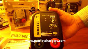 Patriot Pe10 Electric Fence Charger Energizer 10miles 40 Acres Youtube