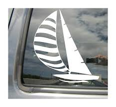 Sailboat Sailing Sail Boat Window High Quality Car Vinyl Decal Sticker 04019 Ebay