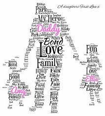 daddy dad and daughters word art print