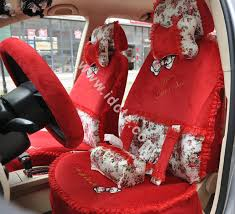 bow lace universal auto car seat cover