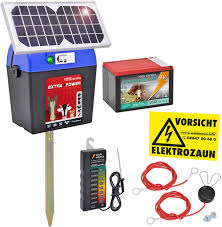 Solar Electric Fence Kit Extra Power 9v With Accessories Amazon Co Uk Garden Outdoors