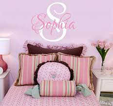Amazon Com Girls Nursery Personalized Custom Name Wall Decals Baby Wall Stickers For Girls 28 W By 25 H Girl Name Wall Decal Wall Decor Girls Nursery Wall Decals Girls Bedroom Plus Free