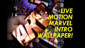 intro iphone live wallpaper avengers